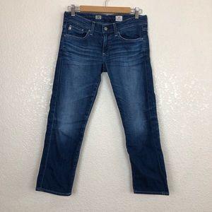 AG Adriano Goldschmied Tomboy Crop Jeans sz 26
